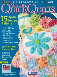 McCall's Quick Quilts June/July 2014- do you see our little bird quilt on the cover- tucked in the basket ?
