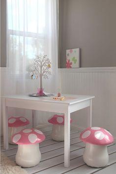 mushroom chairs | Jess Vieira