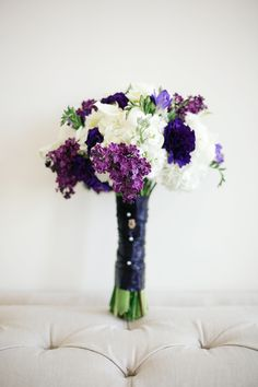 These little purple flowers are ADORABLE! I want them! :D A Classic Southern Purple and Gray Texas Wedding