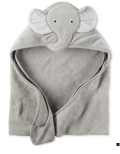 Carter's Baby Boys' Hooded Elephant Towel Bath time is extra snuggly and soft for baby boy with this elephant-themed hooded terry towel from Carter's. Baby Elephant Nursery, Elephant Towel, Grey Elephant, Elephant Baby Clothes, Carters Baby Boys, Baby Kids, Shower Bebe, Baby Towel, Baby Warmer