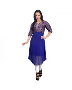 Blue Embroidered Kurti Just @ Rs.1,788 55% OFF   To Buy Click Here:- http://www.ethnicstation.com/blue-embroidered-kurti-rc5604  #TrendyKurty #DiscountCoupon