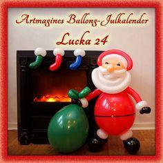 Artmagines Ballong-Julkalender Lucka 24: God Jul på er alla önskar ballong-jultomten och vi på Artmagine!