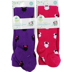 Minnie Mouse 2 pack Infant Tights Stockings INBT7579 INBT9893 Disney #Disney #Tights