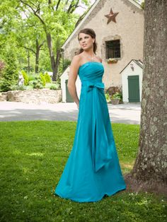 Gorgeous A-line strapless taffeta bridesmaid dress