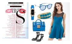 """""""Cobalt......"""" by paige-brrian ❤ liked on Polyvore featuring Marc Jacobs, Furla, Ray-Ban, Aurélie Bidermann, MAC Cosmetics and Alexander Wang"""