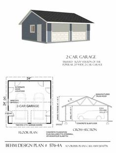 Average 2 car garage dimensions chicagoland garage for 2 car garage addition plans
