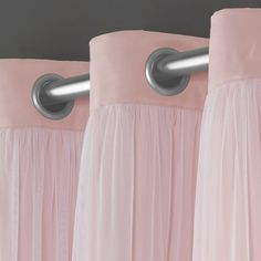 Exclusive Home Curtains Catarina Woven Blackout Grommet Top Panel Pair, Rose Blush, 2 Piece Home Curtains, Window Curtains, Rideaux Design, Layered Curtains, Blush Roses, Room Darkening, Blackout Curtains, Home Decor Outlet, Curtain Rods