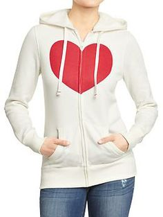Women's Heart-Icon Hoodies | Old Navy