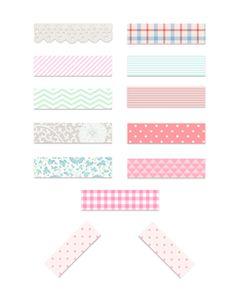 Arts And Crafts Storage Digital Scrapbook Paper, Digital Papers, Printable Stickers, Printable Paper, Journal Stickers, Planner Stickers, Washi Tape Crafts, Washi Tapes, Washi Tape Planner