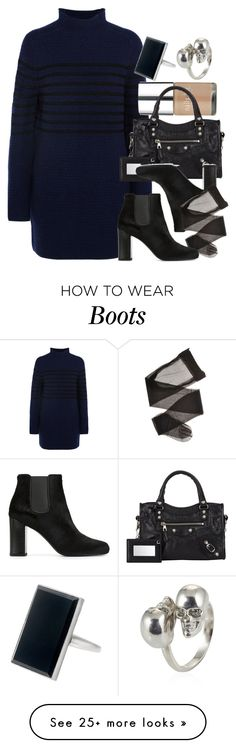 """Style #9571"" by vany-alvarado on Polyvore featuring Topshop Unique, Tiffany & Co., Alexander McQueen, Nails Inc., Balenciaga and Yves Saint Laurent"