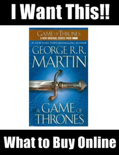 Game of Thrones book! Adding this to my reading list!