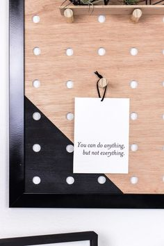 See how to make a DIY giant pegboard perfect to get your office organized. See how to make a DIY giant pegboard perfect to get your office organized. This modern oversized pe You Can Do Anything, You Got This, Garage Studio, Studio Backdrops, Show Booth, Retail Merchandising, Create And Craft, Human Condition, Garage Organization