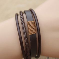 awesome Fashion Retro Multilayer Leather Wristband Bracelet Cuff Bangle Men Women HOT - For Sale View more at http://shipperscentral.com/wp/product/fashion-retro-multilayer-leather-wristband-bracelet-cuff-bangle-men-women-hot-for-sale/