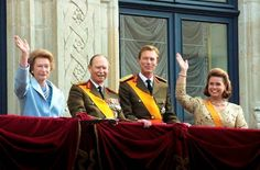 THE BALCONY  HH.RR.HH. Grand Duchess Josephine Charlotte, Grand Duke Jean, Grand Duke Henri and Grand Duchess Maria Teresa of Luxembourg