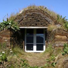 Icelandic sod house.