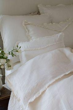 Soft fluffy clean white bedding