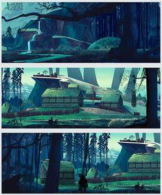Environment Fan Art / Art Test based on Banner Saga series.