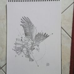 Eagle #drawing #geometric #50/50 #enjoy