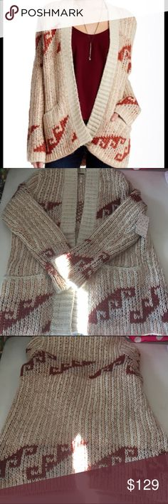 Free People Time Again Patterned Cardigan NWT S Free People Time Again Patterned Cardigan NWT S Free People Sweaters Cardigans