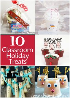 Are you planning the classroom holiday party? Here are some great ideas for Christmas treats the kids will love!