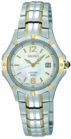 Seiko Womens SXDC92 Quartz Stainless Steel MotherOfPearl Dial Watch ** Click image for more details.
