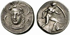 G641 A Rare and Exceptional Greek Silver Drachm of Syracuse (Sicily, an Unsigned…