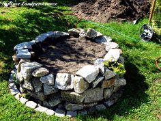 Trockengemauertes Hochbeet Dry stone high bed from granite