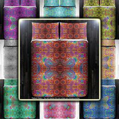 Gypsy Hippie Paisley Bohemian Bedding Duvet Cover by DUVETCOVER