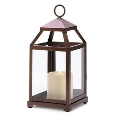 Bronze Squared Candle Lantern. Unique contemporary bronze color squared pillar candle lantern This stylish contemporary brushed silver squared candle lantern will make a great home accent.