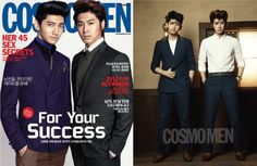 TVXQ transform into '50s men as cover models for 'COSMO MEN'
