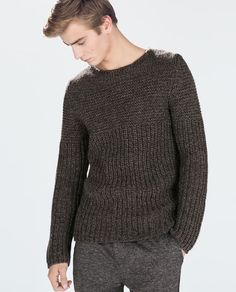 Cashmere sweater - thick woven / textured