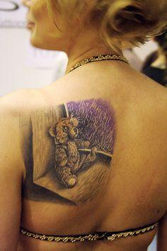 Cool Ink..... Bear Tattoos, Skull, Ink, India Ink, Skulls, Sugar Skull