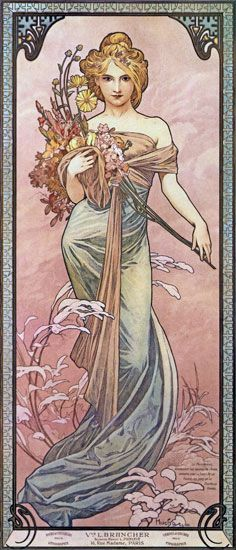 Spring 1899 - Alphonse Mucha  (my favorite artist - creator of Art Nouveau movement)
