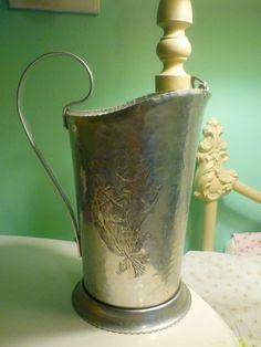hammered aluminum pitcher