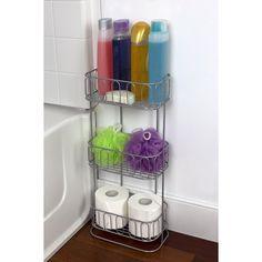 Small Bathroom Organization, Bathroom Hacks, Bathroom Shelves, Organized Bathroom, Bathrooms, Closet Organization, Shower Storage, Bath Storage, Camper Bathroom