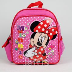 5ba868828d Disney Minnie Mouse 10  Backpack - Daisy Bows Mini Girls Pink Toddler Book  Bag