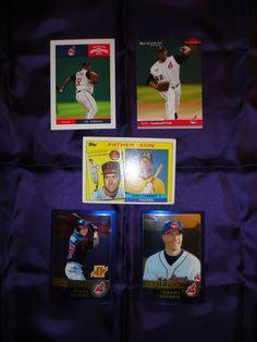 ** 5 Old Cleveland Indians Baseball Cards **
