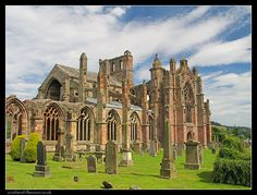 MELROSE ABBEY where the heart of Robert the Bruce is buried.
