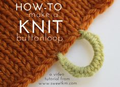 You can easily add a buttonhole to any finished knit. This video describes how to attach a button loop along the edge of a garment using ...