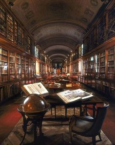 Europe's History on - The Royal Library of Turin, Italy ~ Founded in 1840 - Library Room, Dream Library, Grand Library, Old Libraries, Bookstores, Library Architecture, Beautiful Library, Turin Italy, Italy Italy
