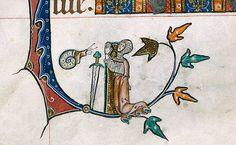 Credit: Chris McGlashon/The British Library A detail from the Gorleston Psalter, England (Suffolk), 1310-1324