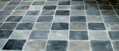 Betongplatta, svart 15*15 cm Tile Floor, Tiles, Flooring, Texture, Bathrooms, Room Tiles, Surface Finish, Bathroom, Tile