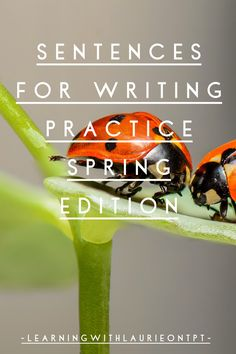 Sentence for writing practice worksheets and story starter worksheets, will get your students writing sentences to practice writing, during the active Spring season. Writing Sentences, Sentence Writing, Teaching Activities, Teaching Resources, Student Learning, Fun Learning, Writing Practice Worksheets, Teaching Language Arts, Special Education Classroom