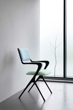 The Vienna #chair made in #steel finished with a black patination.