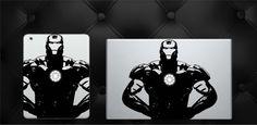 Glowing Iron Man Avengers Superhero Macbook or iPad by AFoxBox
