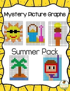 Fun mystery pictures for end of the year or summer! $ #summer #math