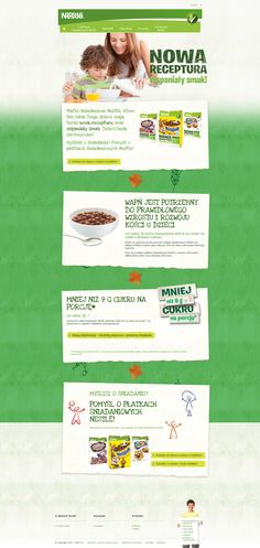 Unique Web Design, Nestle @inna72 #WebDesign #Design (http://www.pinterest.com/aldenchong/)