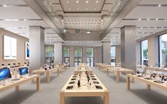 Apple Store, people can find all apple electronics here. people like hanging around in apple store Barcelona Architecture, Interior Architecture, Interior Design, Sede Da Apple, Apple Store Shop, Apple Headquarters, Restaurants, Retail Space, Retail Shop