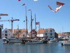 Skudeneshavn is the coastal town in Norway that has succeeded best in preserving its old white wooden houses and buildings.