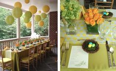 nesting baby shower, gender neutral CAN be fun! love these colors
